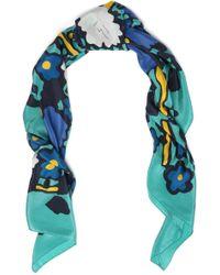 COACH - Floral-print Silk Scarf - Lyst
