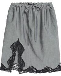 Alexander Wang - Lace-trimmed Wool And Mohair-blend Skirt - Lyst