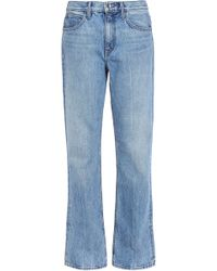Helmut Lang - Faded Mid-rise Straight-leg Jeans Light Denim - Lyst
