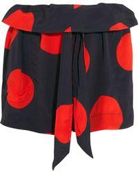 Vivienne Westwood Anglomania - Kung Fu Polka-dot Crepe Shorts - Lyst