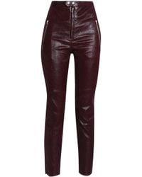 Isabel Marant - Coated Leather Slim-leg Trousers - Lyst