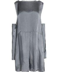 Maison Margiela - Cold-shoulder Pleated Shantung Mini Dress - Lyst