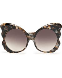 Matthew Williamson - Butterfly-frame Tortoiseshell Acetate Sunglasses - Lyst