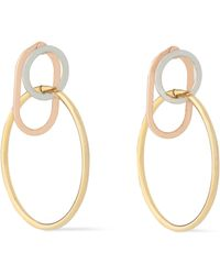 Alexander Wang - Yellow, White And Rose Gold-tone Hoop Earrings - Lyst