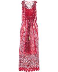 Elie Tahari - Mckenna Appliquéd Tulle And Lace-trimmed Floral-print Silk-blend Midi Dress - Lyst