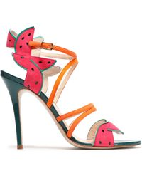 Camilla Elphick Woman Pcv-paneled Color-block Leather Sandals Multicolor Size 40 Camilla Elphick 3h3liGnXB