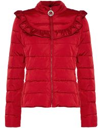 Love Moschino - Ruffle-trimmed Quilted Shell Jacket - Lyst