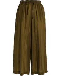 McQ - Crinkled-sateen Culottes - Lyst