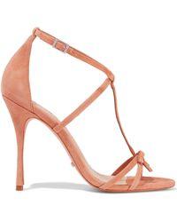 ff443c82d26 Lyst - Carmen Marc Valvo Sabina Leather Wedge Sandal