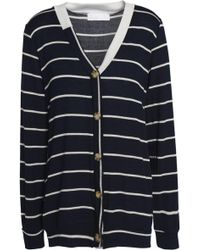 Kain - Striped Knitted Cardigan Midnight Blue - Lyst