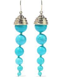 Aurelie Bidermann - Lakotas Gold-tone Stone Earrings - Lyst