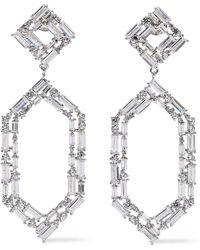 Noir Jewelry - Woman Silver-tone Crystal Earrings Silver - Lyst