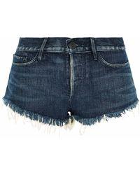 3x1 - Frayed Faded Denim Shorts - Lyst