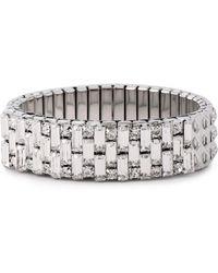 DANNIJO - Silver-tone Crystal Bracelet Silver - Lyst