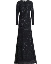 Needle & Thread - Bead And Sequin-embellished Chiffon Gown - Lyst