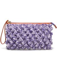 M Missoni - Crocheted Cotton-blend Clutch - Lyst