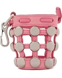 Alexander Wang - Studded Leather And Suede Keychain - Lyst