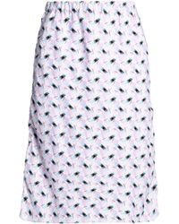 Marni - Printed Cotton-poplin Skirt - Lyst