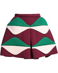 Delpozo - Panelled Color-block Neoprene Mini Skirt - Lyst
