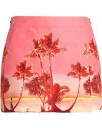 Orlebar Brown - Printed Canvas Mini Skirt - Lyst