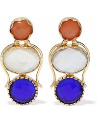 Kenneth Jay Lane - Gold-tone Stone Earrings - Lyst