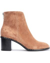 3de9565a7245 Rag   Bone - Woman Willow Studded Suede Ankle Boots Camel - Lyst
