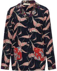 Valentino - Printed Silk Crepe De Chine Shirt - Lyst