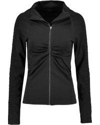 Yummie By Heather Thomson - Vera Croc Effect-trimmed Stretch-jersey Jacket - Lyst