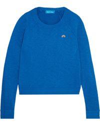 M.i.h Jeans - Embroidered Slub Cotton-jersey Sweatshirt - Lyst