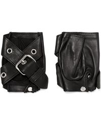 Causse Gantier | Buckled Leather Fingerless Gloves | Lyst