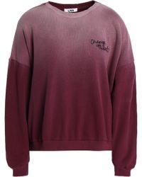 LNA - Embroidered Dégradé Cotton-fleece Sweatshirt - Lyst