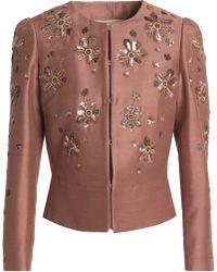Roberto Cavalli - Embellished Woven Jacket - Lyst