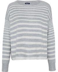 Splendid - Split-back Striped Stretch-knit Top - Lyst