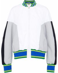 NO KA 'OI - Color-block Scuba And Crinkled-shell Bomber Jacket - Lyst