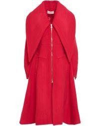 Antonio Berardi - Woman Wool-blend Felt Coat Red - Lyst