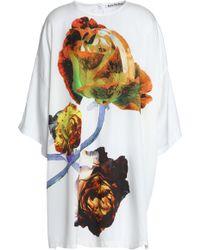 Acne Studios - Oversized Printed Twill Dress - Lyst