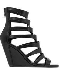 Rick Owens - Nautilus Leather Wedge Sandals - Lyst