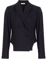 Nina Ricci - Double-breasted Pinstriped Wool-blend Blazer - Lyst