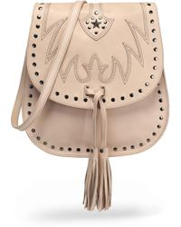 Just Cavalli - Tasselled Leather Shoulder Bag - Lyst