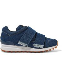 3.1 Phillip Lim - Trance Leather-trimmed Denim Trainers - Lyst