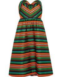 Delpozo | Strapless Striped Jacquard Dress | Lyst