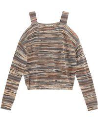 Autumn Cashmere - Cold-shoulder Pointelle-knit Cotton Jumper - Lyst