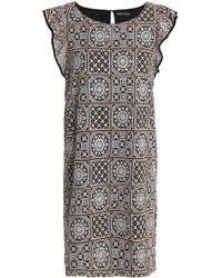 Antik Batik - Embroidered Gauze Mini Dress - Lyst