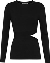 Elizabeth and James - Kelton Cutout Stretch-knit Top - Lyst