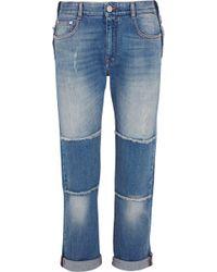Stella McCartney - Patchwork Boyfriend Jeans - Lyst