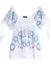 Antik Batik - Rubi Embroidered Cotton-voile Blouse - Lyst