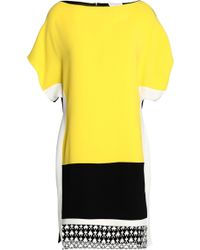 Vionnet   Lace-paneled Color-block Crepe Mini Dress   Lyst