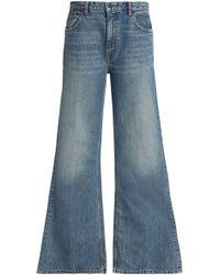 Alexander Wang - High-rise Wide-leg Jeans - Lyst