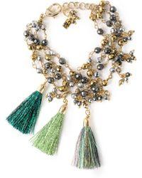 Rosantica - Tasselled Beaded Gold-tone Bracelet - Lyst