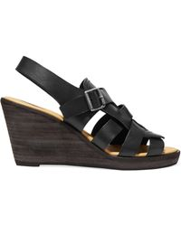 MM6 by Maison Martin Margiela - Leather Wedge Sandals - Lyst